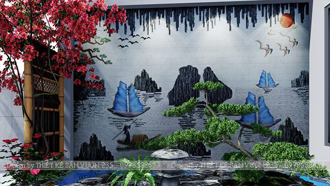 Mẫu thiết kế tiểu cảnh sân vườn tại Vĩnh Phúc 2