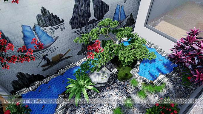 Mẫu thiết kế tiểu cảnh sân vườn tại Vĩnh Phúc 3