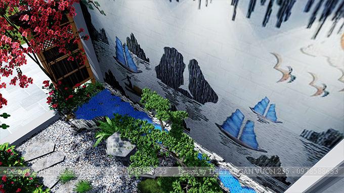 Mẫu thiết kế tiểu cảnh sân vườn tại Vĩnh Phúc 4