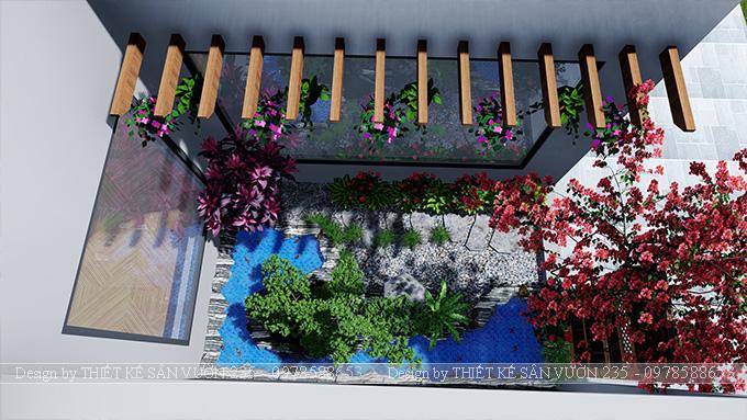 Mẫu thiết kế tiểu cảnh sân vườn tại Vĩnh Phúc 5