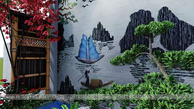 Mẫu thiết kế tiểu cảnh sân vườn tại Vĩnh Phúc 7