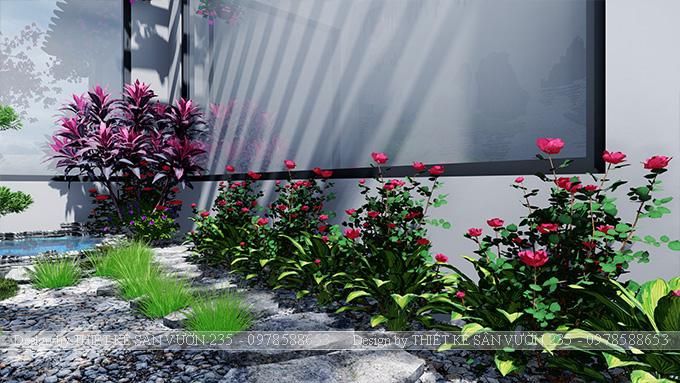 Mẫu thiết kế tiểu cảnh sân vườn tại Vĩnh Phúc 8