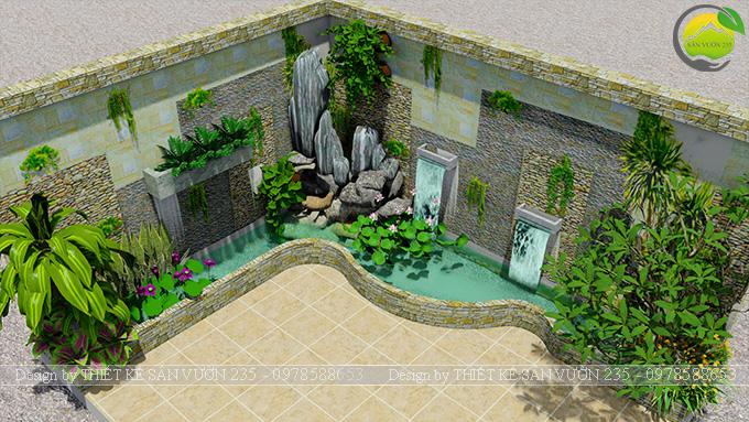 Mẫu thiết kế tiểu cảnh trang trí tường tại Sai Gòn 2