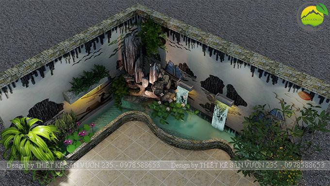 Mẫu thiết kế tiểu cảnh trang trí tường tại Sai Gòn 4
