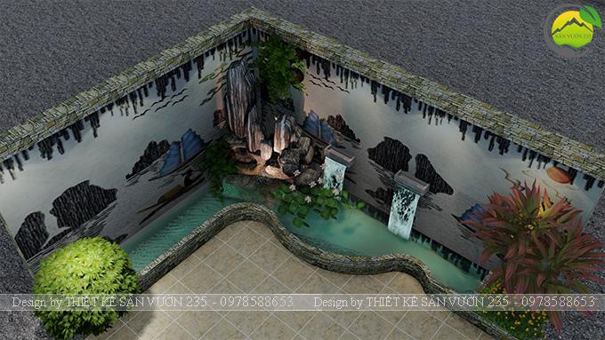 Mẫu thiết kế tiểu cảnh trang trí tường tại Sai Gòn 7