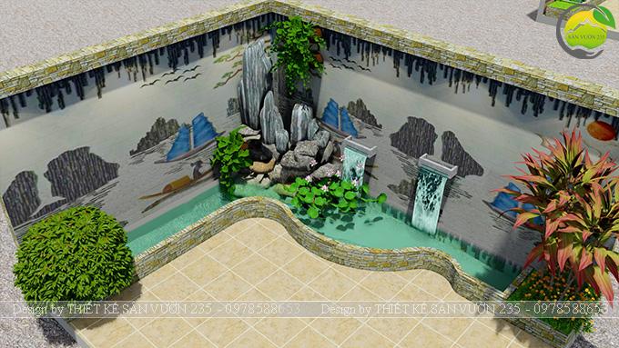 Mẫu thiết kế tiểu cảnh trang trí tường tại Sai Gòn 8