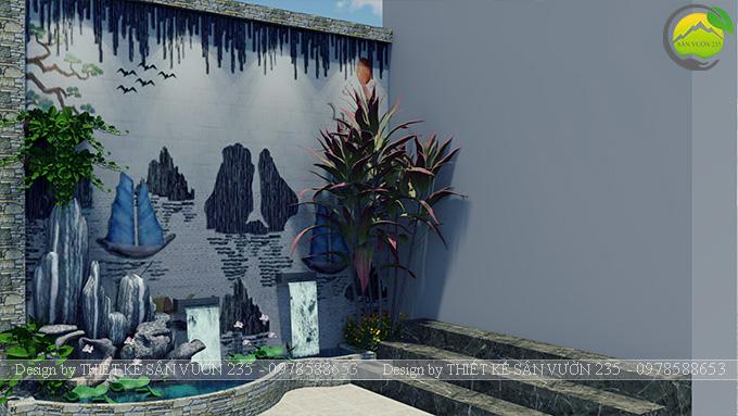 Mẫu thiết kế tiểu cảnh tranh tường tại Sài Gòn 10
