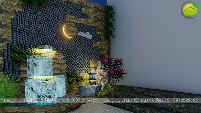 Mẫu thiết kế tiểu cảnh tranh tường tại Sài Gòn 1
