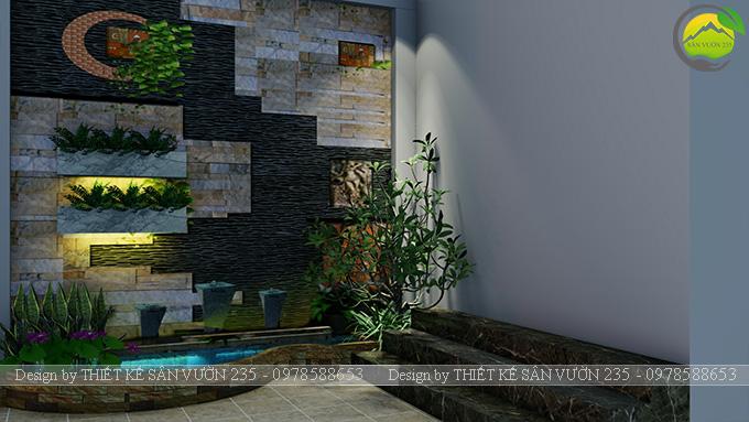 Mẫu thiết kế tiểu cảnh tranh tường tại Sài Gòn 5