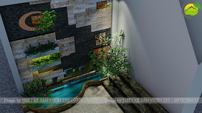 Mẫu thiết kế tiểu cảnh tranh tường tại Sài Gòn 6