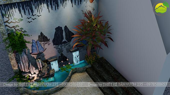 Mẫu thiết kế tiểu cảnh tranh tường tại Sài Gòn 8