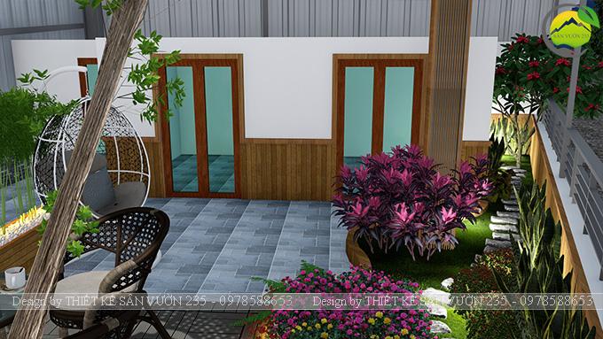 Mẫu thiết kế tiểu cảnh vườn sân thượng tại Vĩnh Phúc 11