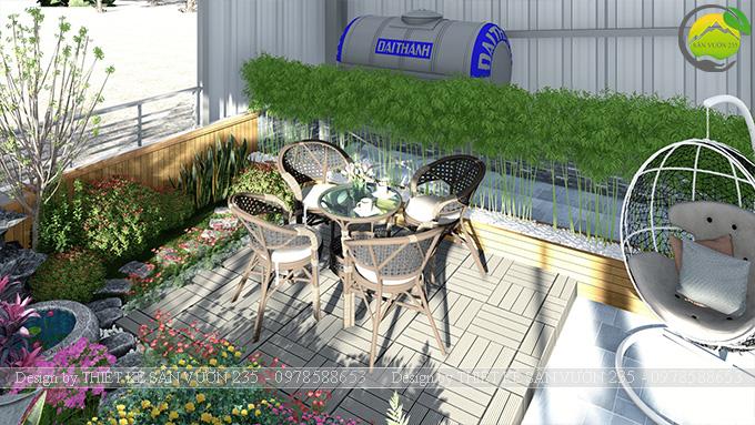 Mẫu thiết kế tiểu cảnh vườn sân thượng tại Vĩnh Phúc 8