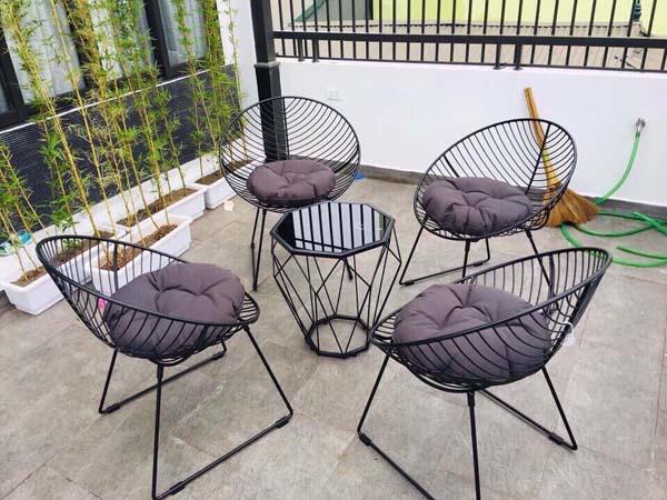 bộ bàn ghế cho sân thượng