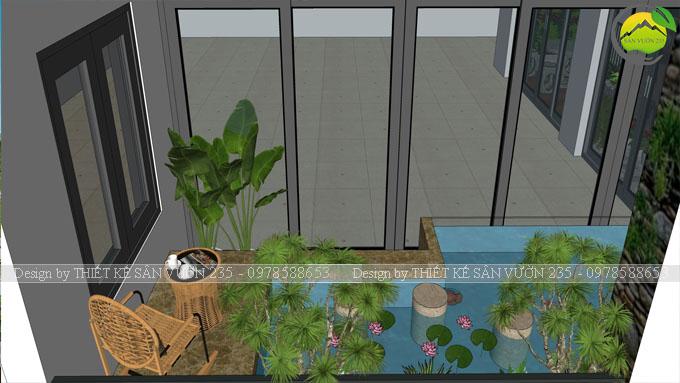 Bể cá trên sân thượng
