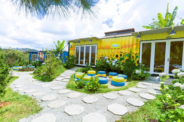 mẫu sân vườn homestay đẹp