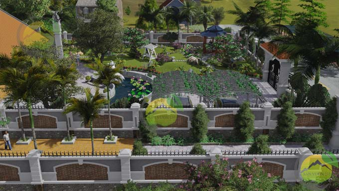 mẫu sân vườn nhà quê