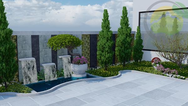 Mẫu sân vườn nhỏ đơn giản