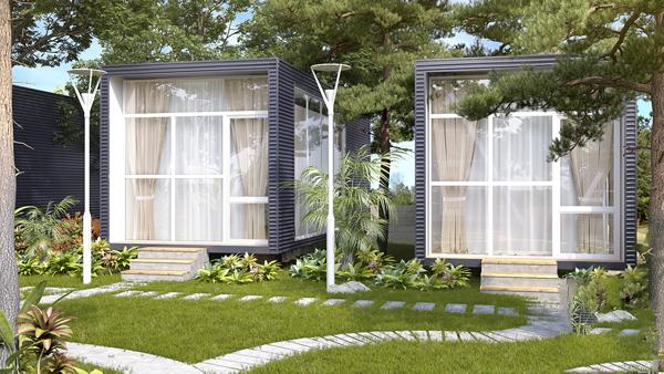 mẫu thiết kế homestay sân vườn đẹp