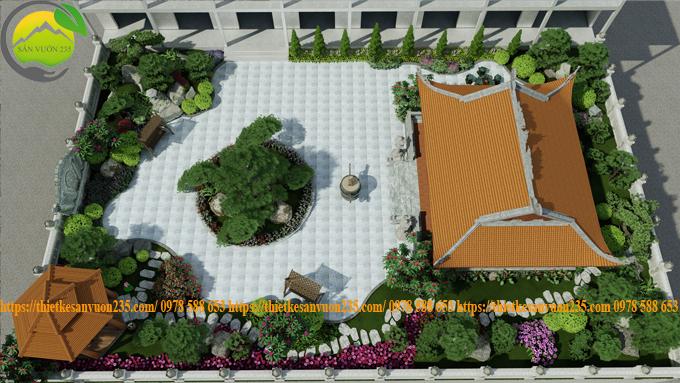 Mẫu thiết kế sân vườn trên sân thượng