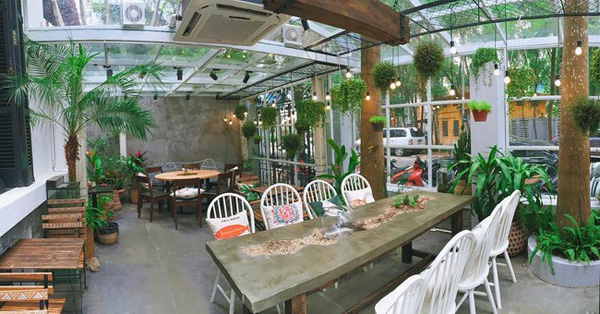 mô hình quán cà phê sân vườn