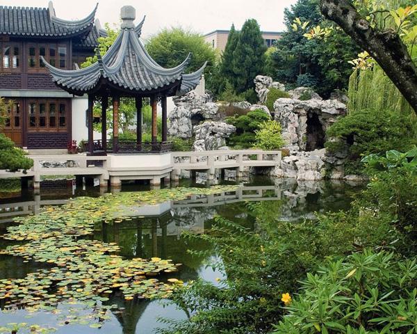 Sân vườn phong cách Trung Quốc