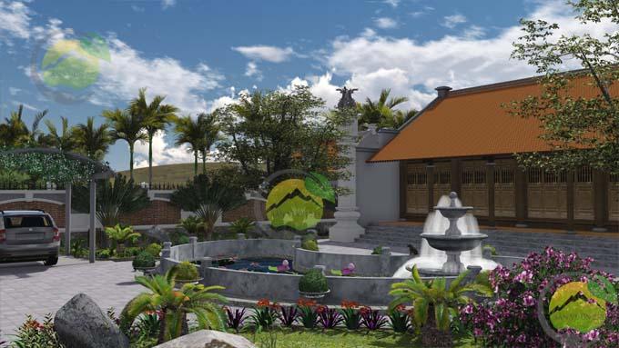 Sân vườn phong cách Việt Nam