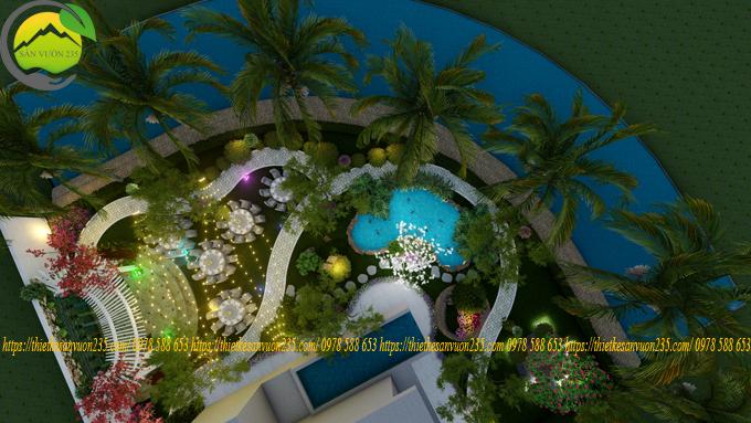 Thiết kế biệt thự sân vườn