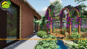 Thiết kế homestay sân vườn