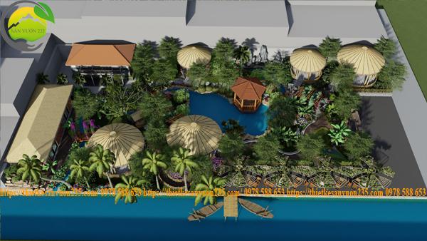 Thiết kế homestay sân vườn nghỉ dưỡng