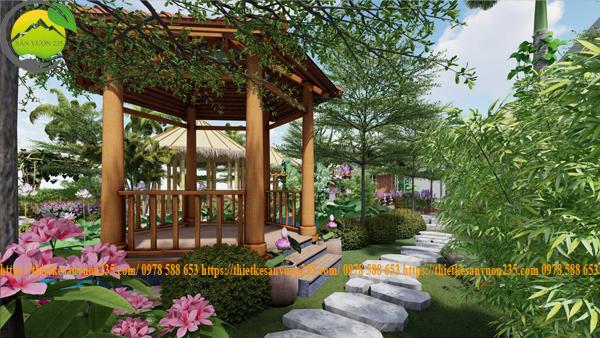 Thiết kế homestay sân vườn đẹp