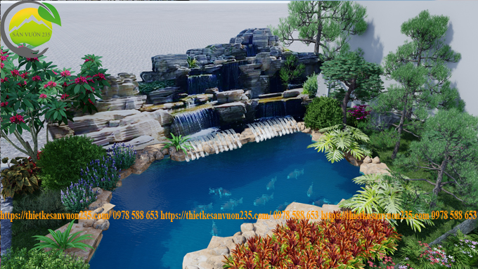 Thiết kế sân vườn hồ cá