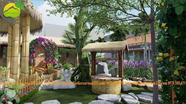 Thiết kế sân vườn homestay chuyên nghiệp