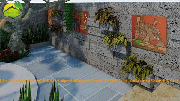 Thiết kế sân vườn nhỏ mini