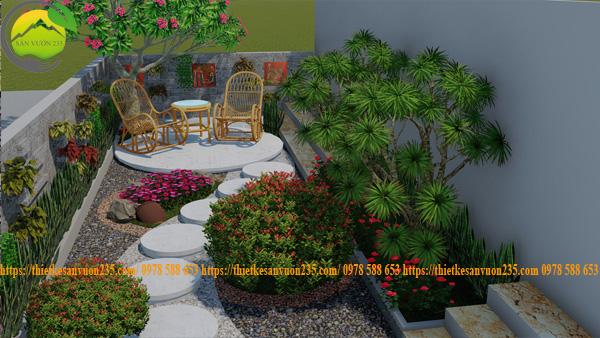 Mẫu sân vườn nhỏ mini