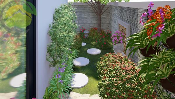 Mẫu thiết kế sân vườn sau nhà