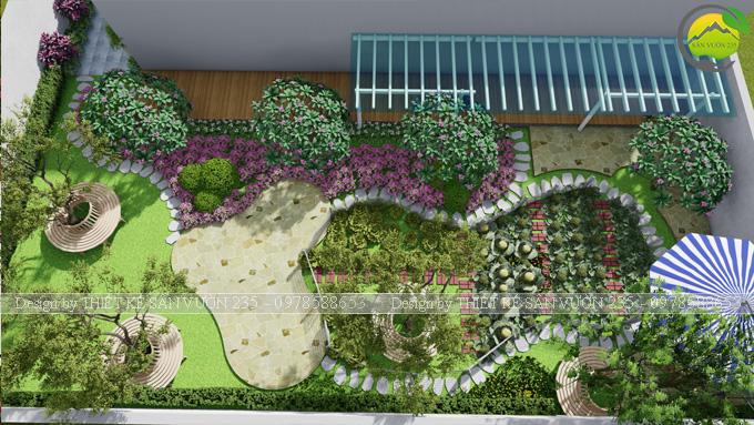 thiết kế sân vườn trồng rau